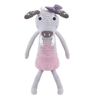 【sebra】小牛鉤針娃娃-粉色