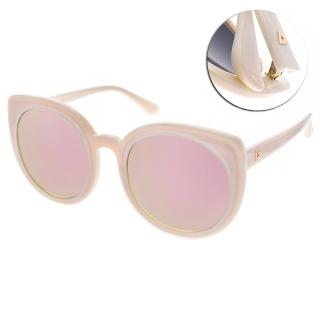 【Stephane+Christian 太陽眼鏡】韓系時尚大貓眼款眼鏡(粉-粉水銀#REMUSE C21)