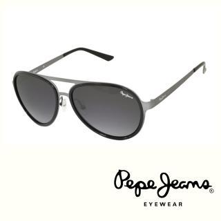 【Pepe Jeans】英倫時尚經典復古風格太陽眼鏡(PJ7111MC1  黑)