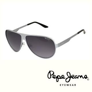 【Pepe Jeans】英倫時尚簡約風格太陽眼鏡(PJ5059MC3  銀)