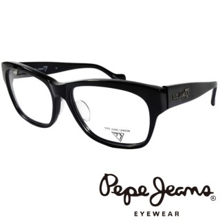 【Pepe Jeans】時尚低調龐克星型暗花光學眼鏡(PJ734102M001 黑)