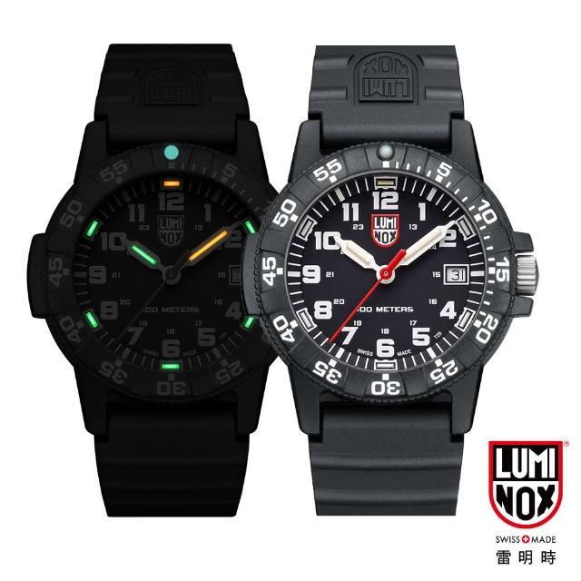 【LUMINOX 雷明時】SEA TURTLE 0300海龜系列腕錶-黑x白時標(39mm)