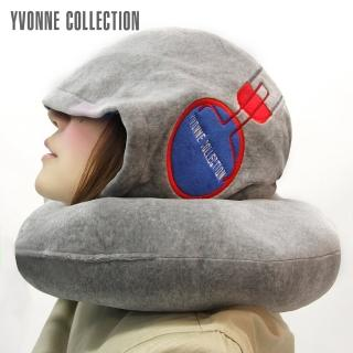 【Yvonne Collection】旅行連帽頸枕(淺灰)