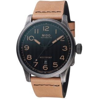 【MIDO 美度】Multifort先鋒系列Escape復刻Horween特別版腕錶(M0326073605099)