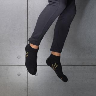 【aPure】除臭襪斜紋氣流導引運動襪(黑)