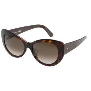 【TOD'S】時尚小貓眼 太陽眼鏡(琥珀色)