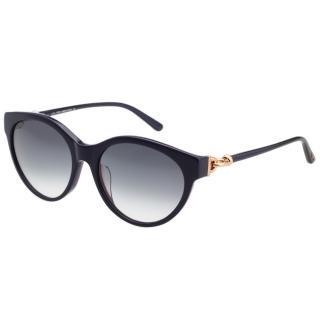 【TOD'S】釦環款 小貓眼 太陽眼鏡(深藍色)