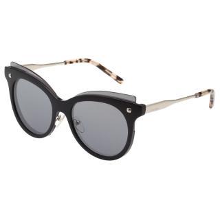 【Calvin Klein (CK)】水銀面 太陽眼鏡CK3196S(黑色)
