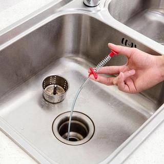 廚房水管疏通器 彈簧疏通工具 毛髮頭髮清理幫手