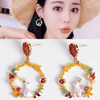 【梨花HaNA】韓國仰望花園星空的兔子耳環