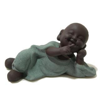 【原藝坊】紫沙陶瓷小沙彌茶寵- 不說