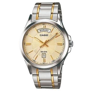 【CASIO 卡西歐】時尚貴族系腕錶-金面(MTP-1381G-9A)