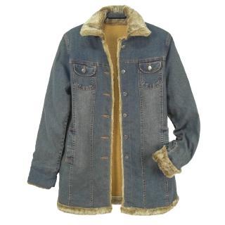 【RH】日系毛領內刷毛保暖外套(乙配亮麗天空藍單一尺碼)