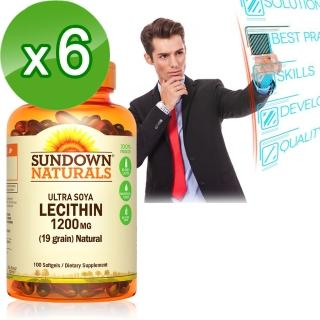 【Sundown 日落恩賜】頂級61%卵磷脂膠囊100粒(6瓶組)