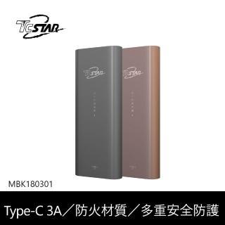 【T.C.STAR】鋁合金Type-C雙向12000mAh快充行動電源(MBK180301)