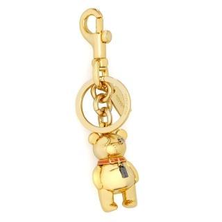 【COACH】立體造型雙扣環鑰匙圈(金色小熊)