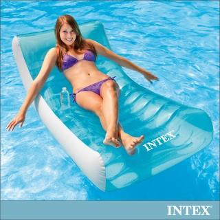【INTEX】藍海戶外充氣躺椅/漂流躺椅(58856)