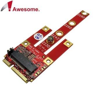 【Awesome 和順】M.2 B Key USB2.0/PCIe/SATA 轉mPCIe轉接卡(AWD-DT-134B)
