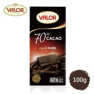 【Valor】70% 純黑巧克力片(100g)