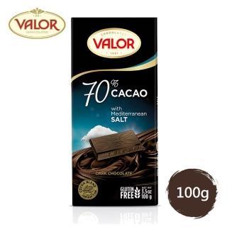 【Valor】70% 海鹽黑巧克力片(100g)