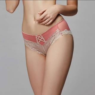 【La Felino 羅絲美】紐約玫瑰中腰四角褲(泡糖粉)