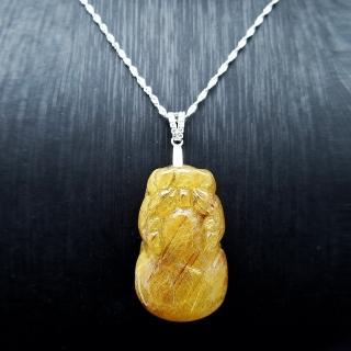 【SUMMER寶石】天然滿絲鈦晶貔貅《15g以上》(隨機出貨)