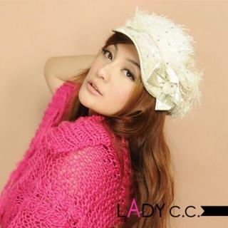 【Lady c.c.】暖意絨絨甜心粉點造型毛帽(米)