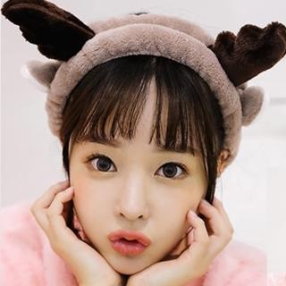 【UNICO】大人小孩通用 聖誕麋鹿小鹿角洗臉髮帶