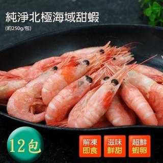 【築地一番鮮】頂級北極甜蝦12包(250g/包)