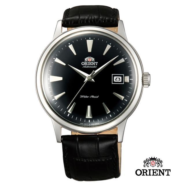 【ORIENT 東方錶】DATEⅡ機械錶 皮帶款  黑色 - 40.5mm(FAC00004B)