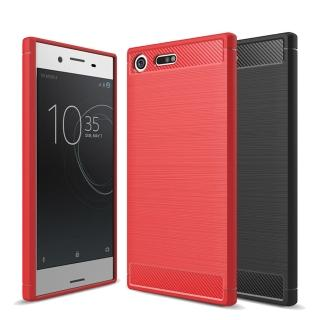 【YANG YI 揚邑】Sony Xperia XZ Premium 5.5吋 碳纖維拉絲紋軟殼散熱防震抗摔手機殼