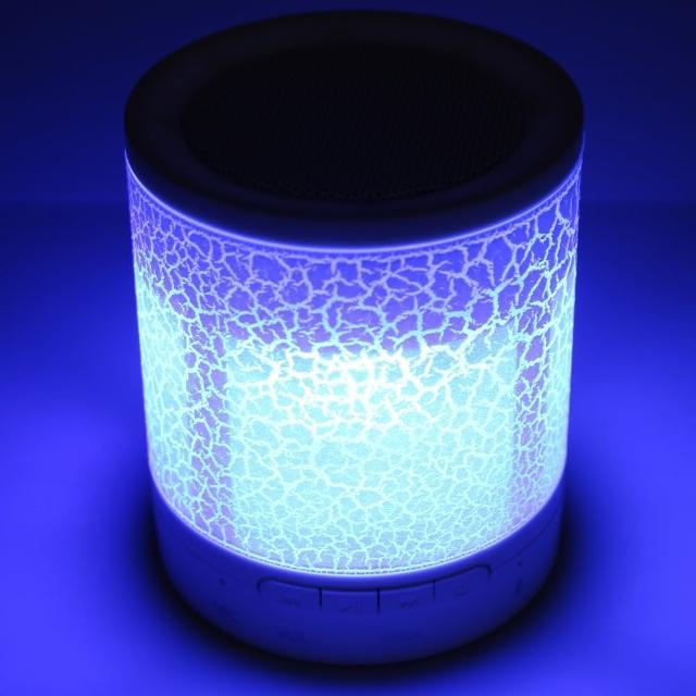 【KINYO】多彩炫光 藍芽無線音箱小喇叭  隨身攜帶插卡式(MP3音樂撥放器)