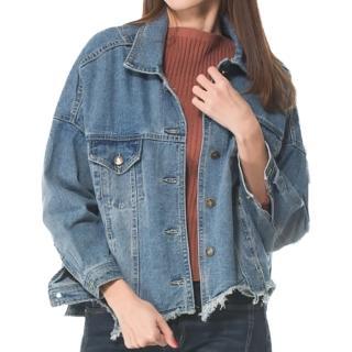 【RH】韓系寬鬆剪裁連袖牛仔外套(優質牛仔外套東大門同步發售全尺碼)