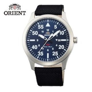 【ORIENT 東方錶】SP 系列 飛行運動石英錶 尼龍帶款 藍色 - 42mm(FUNG2005D)
