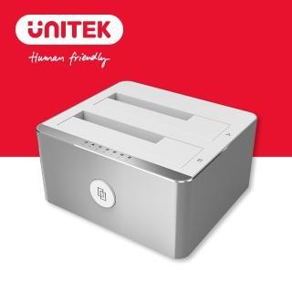 【UNITEK】USB3.1雙槽硬碟外接盒2.5/3.5吋(Y-3027)