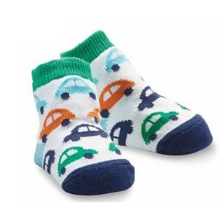 【Mud Pie】時尚造型棉襪/止滑襪/假鞋襪/嬰兒襪_汽車圖案造型(MPSG1-17)