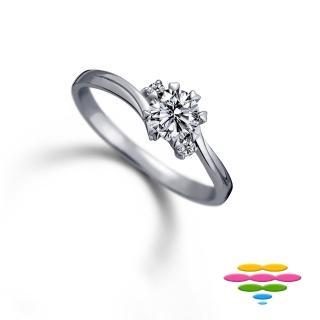 【彩糖鑽工坊】19分以上 18K 八爪鑽石戒指(心戀心 系列)