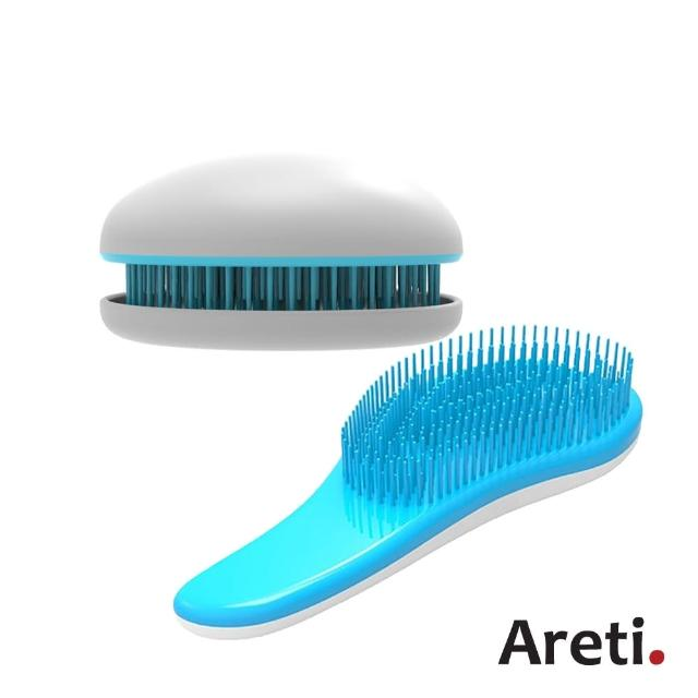 【日本Areti】輕巧柔順按摩梳+攜帶型柔順按摩梳/
