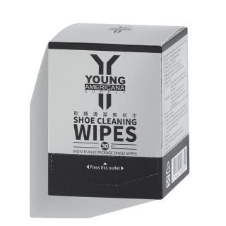 【Y.A.S】美鞋神器 鞋類清潔擦拭巾-30片/盒(YC01023)