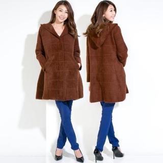 【雪莉亞】RH雪莉亞韓系毛呢長板大衣(毛呢長板大衣對比同色線條)