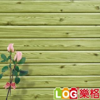 【LOG 樂格】3D立體 木紋防撞美飾牆貼 -秋香綠 X5入(防撞壁貼/防撞墊)