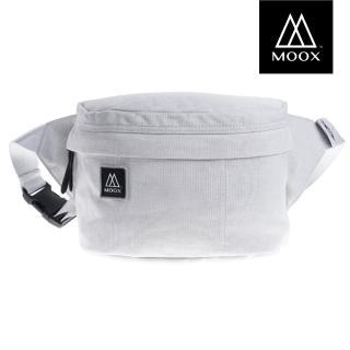 【MOOX 穆克斯】A5GS 極簡時尚單肩斜背包/腰包(雅痞灰)