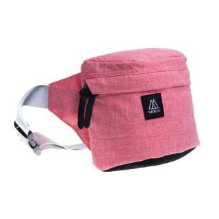 【MOOX 穆克斯】A5RB 極簡時尚單肩斜背包/腰包(珊瑚紅)