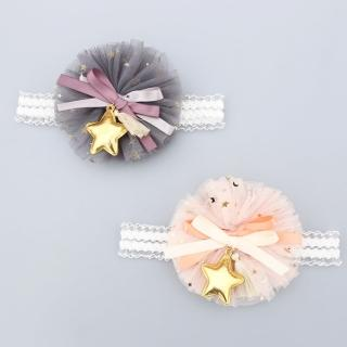 【UNICO】兒童 星星點點蝴蝶結蕾絲花帶(髮飾)