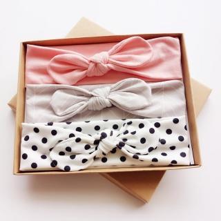 【UNICO】兒童 歐美系髮帶禮盒裝-簡約日常百搭(髮飾)
