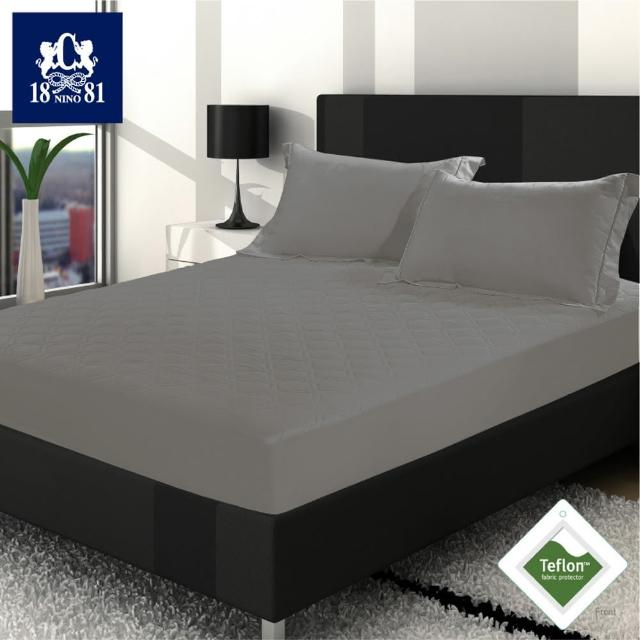 【NINO1881】護理型杜邦5級防潑水床包式保潔墊灰色-加大