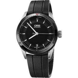 【ORIS 豪利時】Artix GT Day-Date 單向轉圈機械錶-黑x橡膠錶帶/37mm(0173376714434-0741820FC)