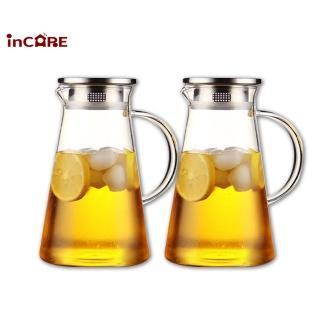 雙11限定【Incare】熱銷日本耐高低溫玻璃冷水壺1700ml(買一送一)
