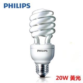 【Philips 飛利浦】HELIX 20W 省電燈泡 黃光 E27(12入組)