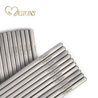 【MASIONS 美心】Titanium Prime 極致純鈦筷具(6雙入組 台灣製造)